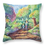 Sharing The Journey Throw Pillow