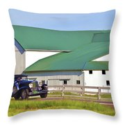 Sharing The Road Throw Pillow