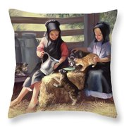Sharing With A Friend Throw Pillow