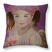 Sharissa Little Angel Of New Beginnings Throw Pillow