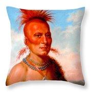 Sharitarish. Wicked Chief. Pawnee Throw Pillow