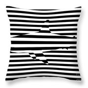 Shark Optical Illusion Throw Pillow by Pixel Chimp