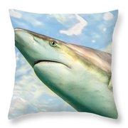 Shark Profile Throw Pillow