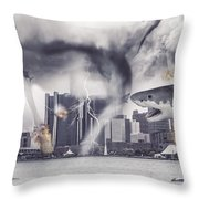 Sharknado Detroit Throw Pillow