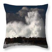 Sharks Cove Crashing Wave Throw Pillow