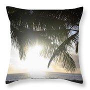 Sharks Cove Sunset Throw Pillow