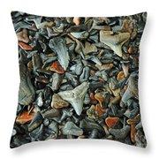 Sharks Teeth 2 Throw Pillow