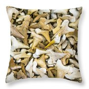 Sharks Teeth Throw Pillow