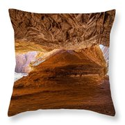 Sharp Curve In A Canyon Throw Pillow