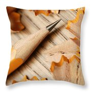 Sharpened Pencil Throw Pillow
