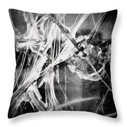 Shatter - Black And White Throw Pillow