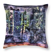 Shattere Side School Bus Window Throw Pillow