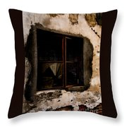 Shattered Past Throw Pillow