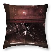 Shattered Window Throw Pillow