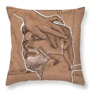 Shave Therapy Throw Pillow by Shop Aethetiks