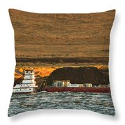 Shaver Tug On The Columbia River Throw Pillow