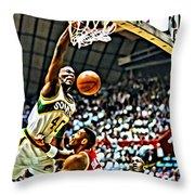 Shawn Kemp Painting Throw Pillow by Florian Rodarte