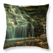 Shawnee Falls In The Spring Throw Pillow