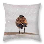 Shawnee Park Geese Throw Pillow