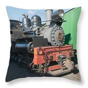 Shay Engine 12 In The Colorado Railroad Museum Throw Pillow