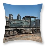 Shay Engine 14 In The Colorado Railroad Museum Throw Pillow