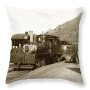 Shay No. 498 At The Summit Of Mt. Tamalpais Marin Co California Circa 1902 Throw Pillow