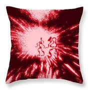 She And He Throw Pillow