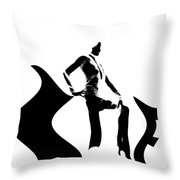 She Black Throw Pillow