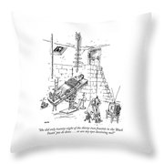 She Did Only Twenty-eight Of The Thirty-two Throw Pillow