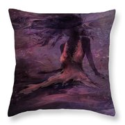 She Is The Wind Throw Pillow by Rachel Christine Nowicki