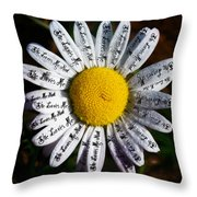 She Loves Me - She Loves Me Not Throw Pillow