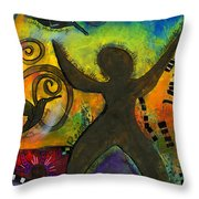 She Rejoices Singing Sweet Songs Of Triumph Throw Pillow