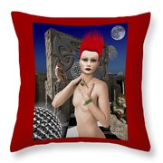 She Returns In Dreamland Throw Pillow