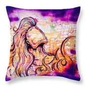She Rose From Fire  Throw Pillow