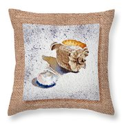 She Sells Sea Shells Decorative Collage Throw Pillow