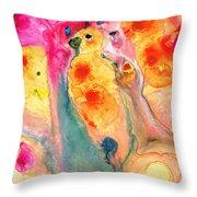 She Sings - Yellow Bird Art By Sharon Cummings Throw Pillow