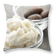 Shea Butter And Nuts In Bowls Throw Pillow