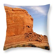 Shear Lined Cliff Throw Pillow