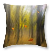 Shed Leaves Throw Pillow
