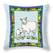 Sheep Artist Sheep Art II Throw Pillow