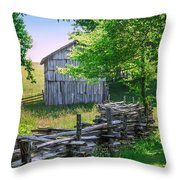 Sheep Barn Throw Pillow