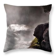 Sheep Falls Mist Throw Pillow