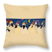 Sheep In Hats Throw Pillow