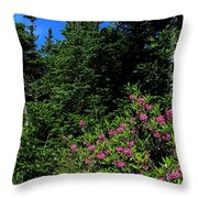 Sheep Laurel Shrub Throw Pillow