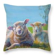 Sheep Lying Down Throw Pillow