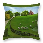 Sheep May Safely Graze Throw Pillow