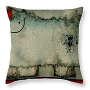 Sheep Or Not So - Bb06 Throw Pillow