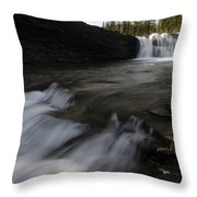 Sheep River Falls Alberta Canada 1 Throw Pillow