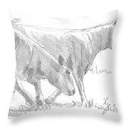 Sheep Walking Throw Pillow