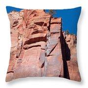 Sheer Canyon Walls Throw Pillow